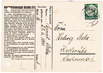 Vordruck Postkarte aus dem Konzentrationslager Dachau.
