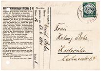 Vordruck Postkarte aus dem Konzentrationslager Dachau. (Vorschau)
