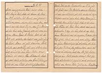 Brief aus Auschwitz. Querformat Din A 4. Vorder- und Rückseite.
